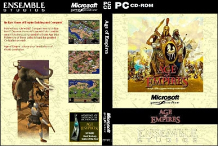 Age of empire game DVD cover