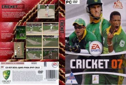 Cricket 2007 game DVD cover