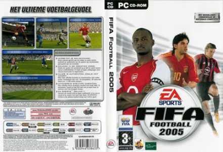 Fifa 2005 game DVD cover