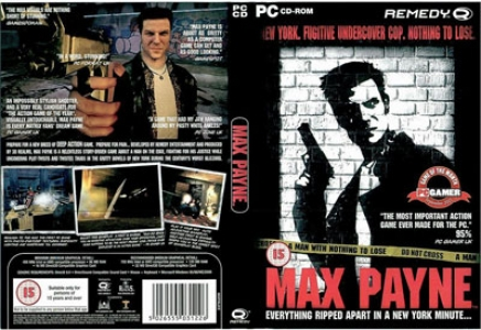 Max Payne game DVD cover