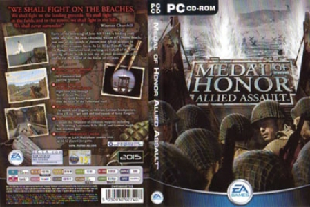 Medal of honor allied assault game DVD cover