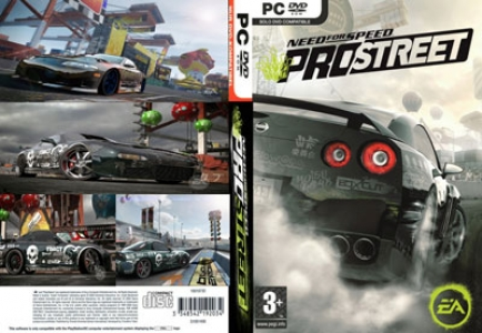 Need for speed pro streets game DVD cover