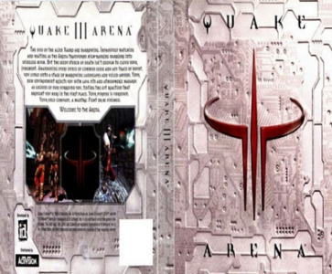 Quake 3 arena game DVD cover