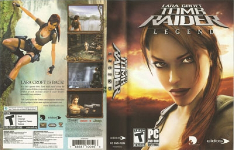 Tomb raider legend game DVD cover