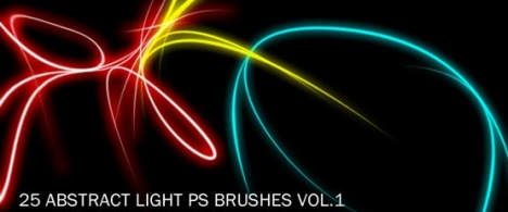 abstract lights Photoshop brushes