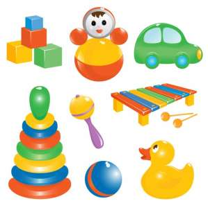 Vector toys for childrens