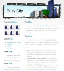 Web site template model