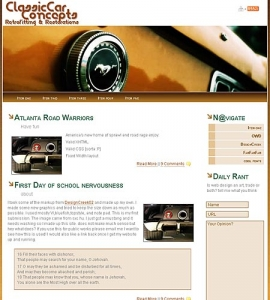 Web site template model