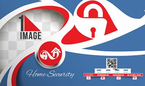 Home security business card vector