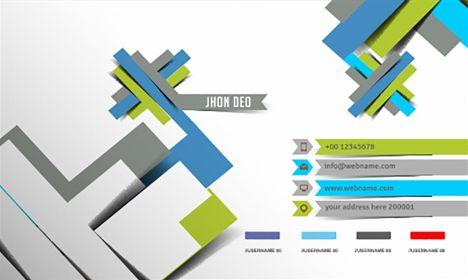 Geometric business card vector