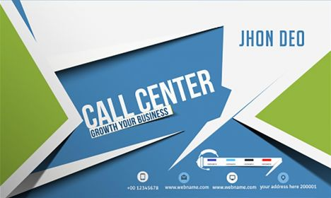 Call center business card vector