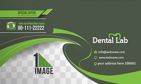 Dental lab business card vector