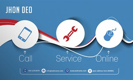 Mobile service business card vector