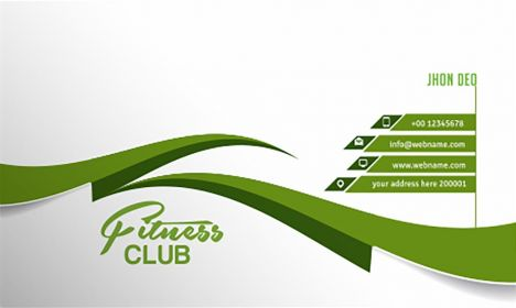 Fitness club business card vector
