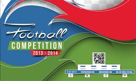 Football events business card vector