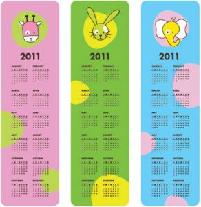 childrens-calendar-for-2011-vector1
