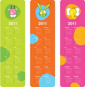 childrens-calendar-for-2011-vector2