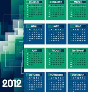 2012 Calendar vector template