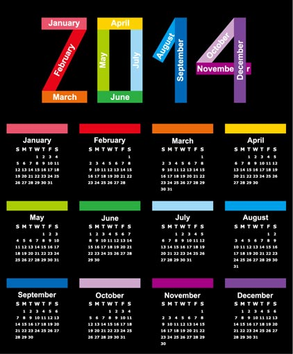Calendar Design Ideas Vector : Calendar vector templates