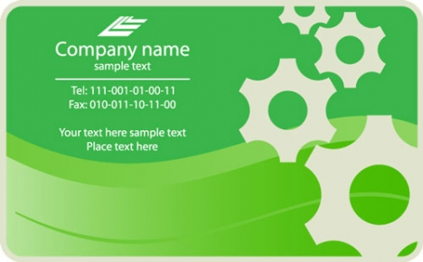 Business cards vector models