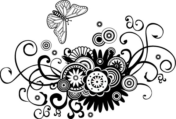 25 vector flower patte...