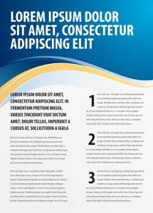 Creative brochure vector cover