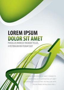 Creative brochure vector with green arrow