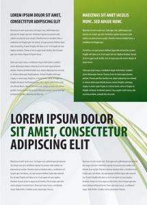 Creative brochure vector with green box text