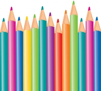 Colorful pencils template