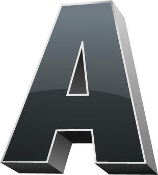 3D Alphabet Letters Template | 3d alphabet letter vector1
