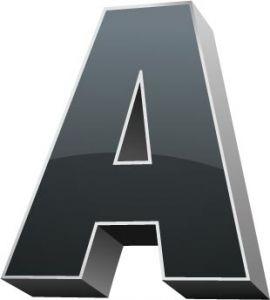3D alphabet A letter vector