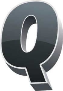 3D alphabet Q letter vector