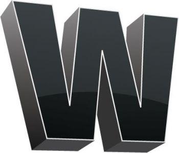 3D alphabet W letter vector