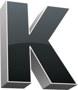 3D alphabet K letter vector
