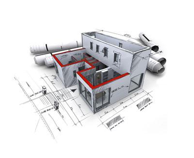 3D architectural design image