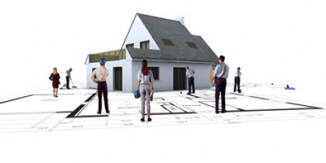 3D Construction and architectural image