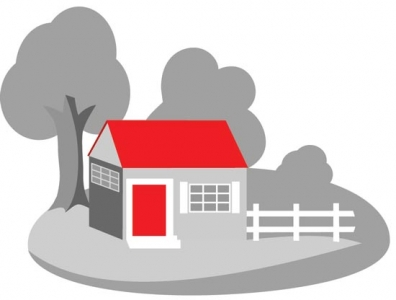 3D house vector template
