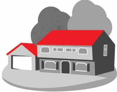 3D house vector layout