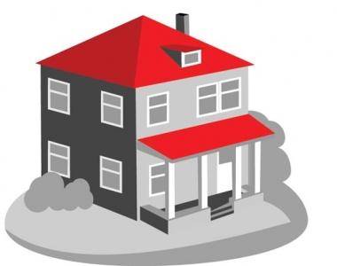 3D house vector layout