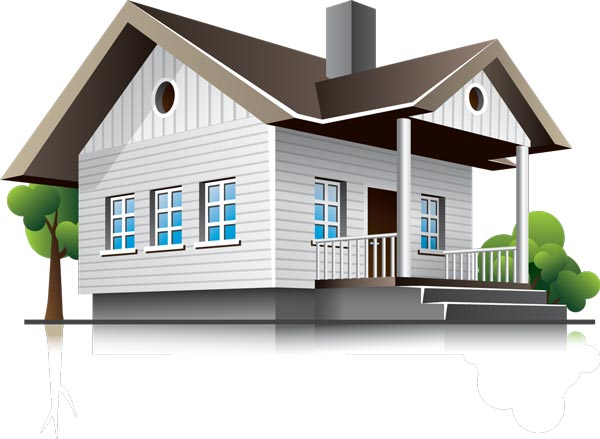 3d houses and office buildings vectors Three d house plans