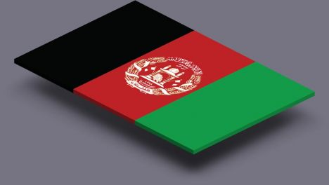 perspective transparent flag of afganistan