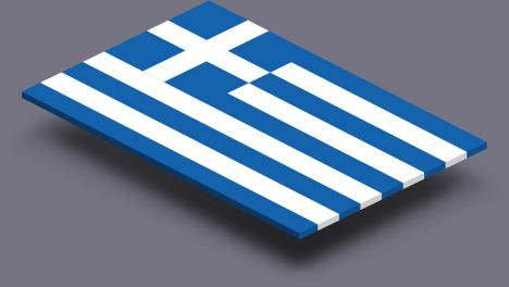 perspective transparent flag of Greece