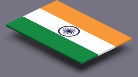 perspective transparent flag of India