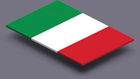 perspective transparent flag of italy