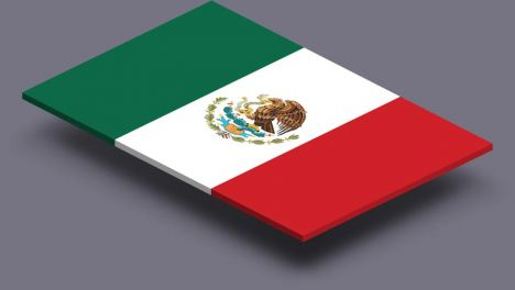 perspective transparent flag of Mexico