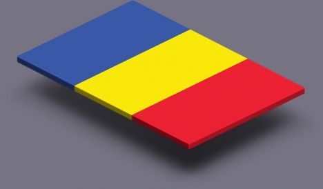 perspective transparent flag of Romania