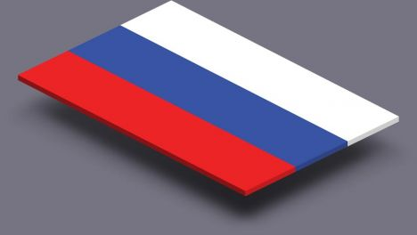 perspective transparent flag of Russia