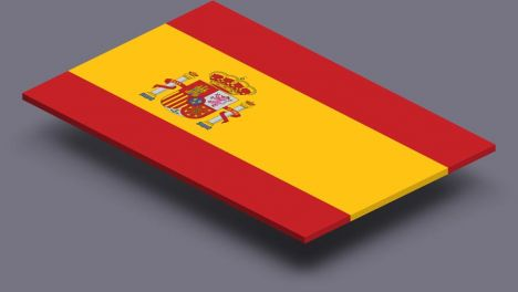 perspective transparent flag of Spain