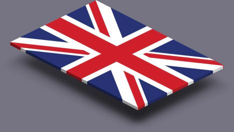 perspective transparent flag of United Kingdom