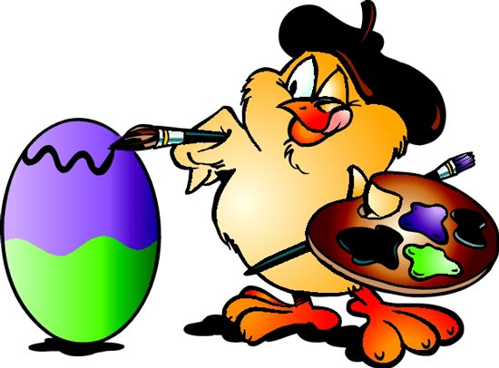 48 Easter cartoon caracter cliparts